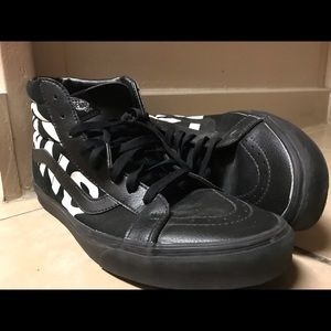 Men's Vans Sk8-High Reissue- Black & White (11.5)